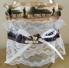 The Walking Dead Wedding Keepsake Toss Garter Set by ShaesBridal