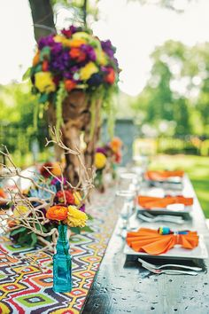 Mexican fiesta inspired wedding | Charlotte Wedding Magazine | Design by The Graceful Host | Floral by Lily Greenthumb's | Photography by Smitten & Hooked | Summer 2013 | Charlotte, North Carolina