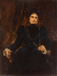 Portrait of Marina Derviz | Jean Joseph Benjamin Constant | France | 1899 | oil on canvas | The Hermitage | Inventory #: ГЭ-5171