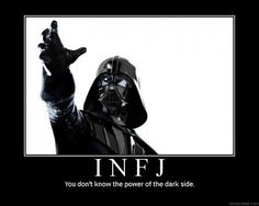 Star Wars Darth Vader, INFJ  you don't know the power of the dark side.