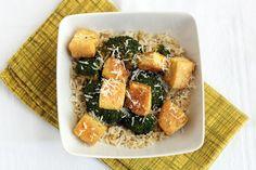 Crispy Oven-Roasted Tofu and Broccoli with Parmesan and Lemon