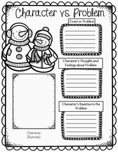 Free Character Graphic Organizer-Winter Snowman Themed!