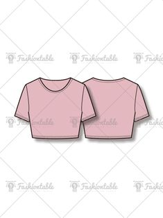 Short Top Fashion Flat Template