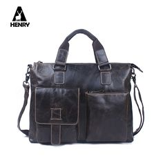 8f1d1232b9 Brand New 14 inch business briefcase laptop bag man genuine leather bags  for men real leather handbags casual mens shoulder bag