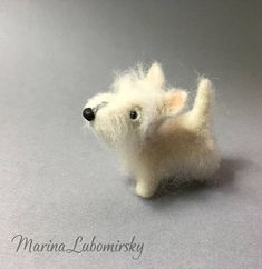 Wheaten Scottish Terrier puppy is a Custom Order Only. This is an example of my work. I would be delighted to create an animal of your choice. If you would like to order one, please contact me. I work from photographs so if you have a specific animal in mind, please send me some