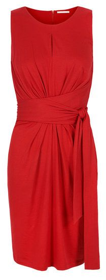 Get Another Shot at Kate Middletons Engagement Dress!:  : Be a lady in red this Fall with a modified wrap dress ($130). Imagine how bold the color will look against opaque black tights! Photo courtesy of Banana Republic
