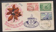 O) 1952 CARIBE, COFFEE - START OF COFFEE INDUSTRY 1748, FDC XF
