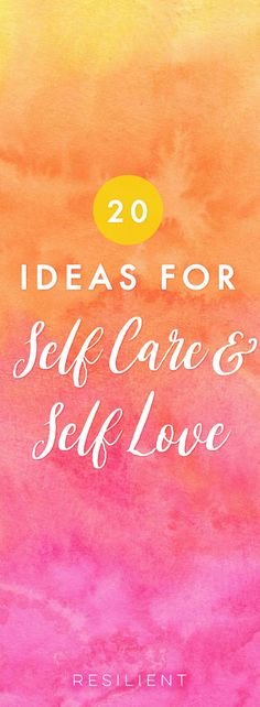 When it comes down to it, self care and self love aren't selfish - they're actually an essential part of living a happy and healthy life. Here are over 20 ideas for self care and self love that will help you improve your relationship with yourself. #selflove #selfcare #selfcareideas