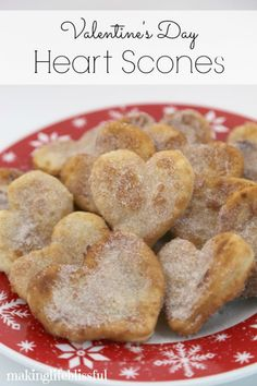 Valentine Heart Shaped Scones. You'll LOVE how easy these are!