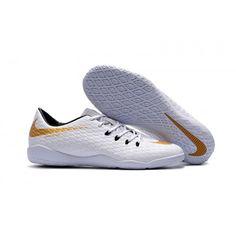 Nike Fußballschuhe HypervenomX Phelon III IC Weiß Gold Schwarz Herren