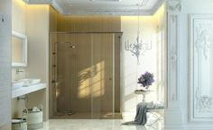 Nano Coating Badkamer : Douchewand cm nano antikalk coating vrijstaand badkamer