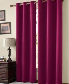 32 Hotel Quality Silver Grommet Top Faux Silk 1 Panel Hot Pink Solid Thermal Foam Lined Blackout Heavy Thick Window Curtain Ds Grommets 108 Length