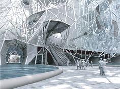 La capitale de l'Emirat du même nom pourrait se lancer a Dubai d ans un projet de batiment qui pousse en absorbant de l'eau salée. Cette proposition folle vient de la Sté Faulders Studio basée en Californie.