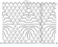 схема для юбки крючком