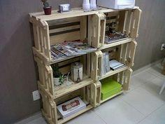 Muebles con objetos reciclados