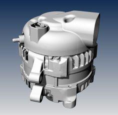 BMW alternator - 3D scan data