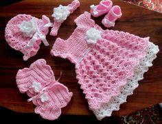 Jeu de bébé bébé robe Boléro chapeau chaussures et par paintcrochet