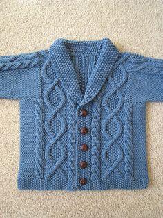 Ravelry: jeanh's Andrew's Birthday Trellis - Knitting patterns, knitting designs, knitting for beginners. Baby Boy Knitting Patterns, Baby Cardigan Knitting Pattern, Crochet Baby Cardigan, Knit Baby Sweaters, Knitting For Kids, Knitting Designs, Baby Patterns, Free Knitting, Pull Bebe