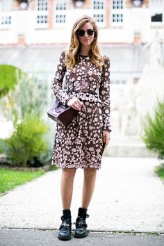 A Blogger's Edgy Way To Wear A Floral Dress | Le Fashion | Bloglovin'