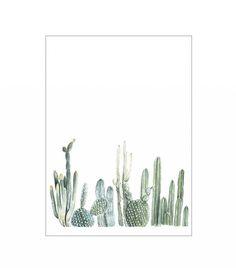 Fox Hollow Design Co. Vertical Cactus Print
