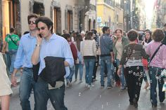 Busy streets of Rome.