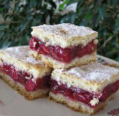 Pudingos-meggyes pite. Isteni finom - BlikkRúzs Baby Food Recipes, Baking Recipes, Cake Recipes, Dessert Recipes, Yummy Snacks, Yummy Food, Hungarian Desserts, Bulgarian Recipes, Winter Food