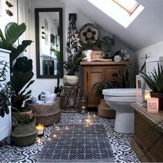 Summer Vibes 5 Tips to Create a Tropical Bathroom is part of Bathroom interior design - 5 Tips to Create a Tropical Bathroom Are you wondering how can you give this tropical vibe to your space Here are some ideas, be inspired! Luxury Interior, Modern Interior Design, Interior Design Living Room, Interior Ideas, Bohemian Interior, Interior Designing, Bohemian Decor, Boho Bathroom, Bathroom Interior