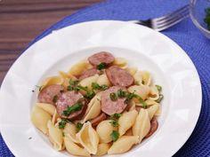 Macarrão com Bacon na Panela de Pressão Elétrica →  #foods #receitas #redeglobo #gshow #MaisVoce #massas#pastas