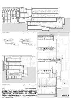 Cultural Centre And The New City Hall Of Archidona - Picture gallery Revit Architecture, Architecture Drawings, Architecture Details, Project Presentation, Construction Drawings, Architectural Section, Detailed Drawings, Technical Drawing, New City
