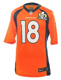 Cheap Nike NFL SuperBowl 50 Peyton Manning Denver Broncos Jersey - Brilliant Orange - Father day sale