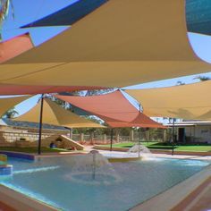 Pool Shade Ideas coolaroo shade sails as patio covers Above Ground Pools Shades