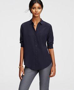 Image of Petite Silk Shirt