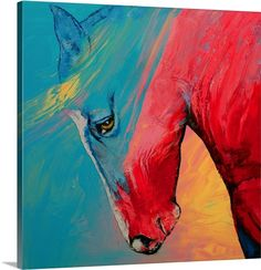 Great Big Canvas 'Painted Horse' by Michael Creese Painting Print Format: White Frame, Size: H x W x D Canvas Art Prints, Painting Prints, Canvas Wall Art, Framed Prints, Horse Wall Art, Contemporary Paintings, Fine Art America, Horses, Canvas Size