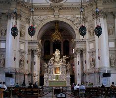 Venedig, Basilica di Santa Maria della Salute, Hochaltar (Basilica St. Mary of Health, high altar)