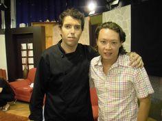 """Con el señor productor Nelson Lee de """"Mujer al aire""""  youtube/chefmanuelsalcido"""