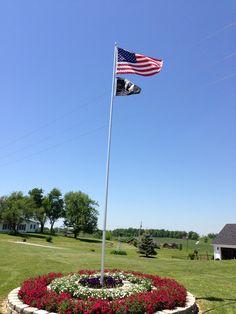 Our flag pole.