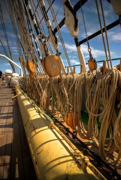 Tall Ship Kruzenshtern's rigging   by ericbar