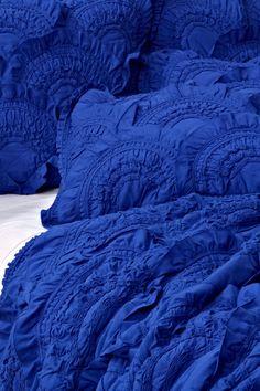 rivulets bedding in cobalt.my favorite color in the whole wide world Azul Indigo, Bleu Indigo, New Blue, Blue And White, Azul Anil, Bleu Cobalt, Everything Is Blue, Himmelblau, Cerulean
