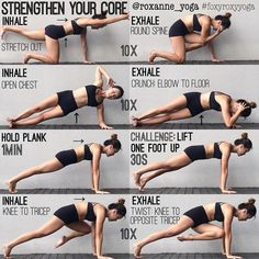 """2,512 Gostos, 19 Comentários - ROXANNE GAN (@roxanne_yoga) no Instagram: """"My all-time favourite core exercises! 1. Inhale to stretch opposite arm & leg. Keep the core…"""""""