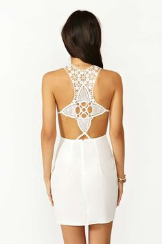 Sunburst Crochet Dress - White | Shop What's New at Nasty Gal