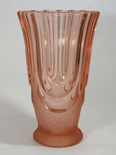 Art Deco Glass 'Luxor' Vase by August Walther & Sohne.
