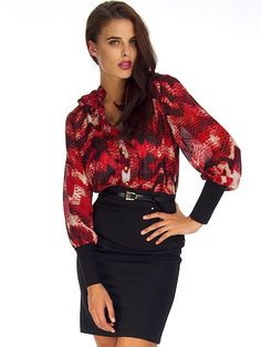 CRIMSON COBRA PENCIL DRESS Bell Sleeves, Bell Sleeve Top, Pencil Dress, Affordable Fashion, Chic, Shopping, Dresses, Women, Style