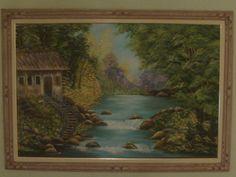 Pintura óleo sobre tela 80 x 1,20 cm.  vendida por R$ 1.800 Reais