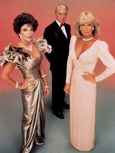 "Joan Collins, John Forsythe and Linda Evans in ""Dynasty"" (TV Series)"