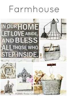 Farmhouse and Cottage Chic Home Decorations and Accessories