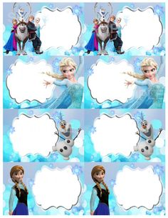 Disney Frozen Printable Label by DreamalittleCraft on Etsy