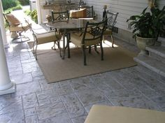 Stamped Concrete Patio, Gray Stamped Concrete, Gray Concrete Patio Concrete Patios Ramsey's Concrete Service Carterville, IL