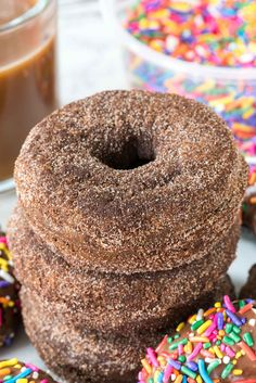 Chocolate donuts, Donut recipes and Donuts on Pinterest