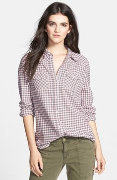 Hinge Button Back Plaid Shirt Nordstrom, Plaid, Buttons, My Style, Shirts, Tops, Women, Fashion, Blouses