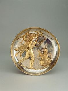 A Sassanian Silver Plate with Herakles and the Erymenthian Boar 5-7th cent.CE